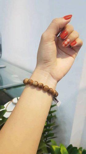 Vòng tay gỗ Trầm Hương Tròn Đơn Lào - Nam photo review