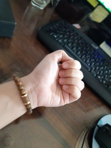 Vòng tay Trầm Hương Lá Bùa Tây Tạng - Nữ photo review