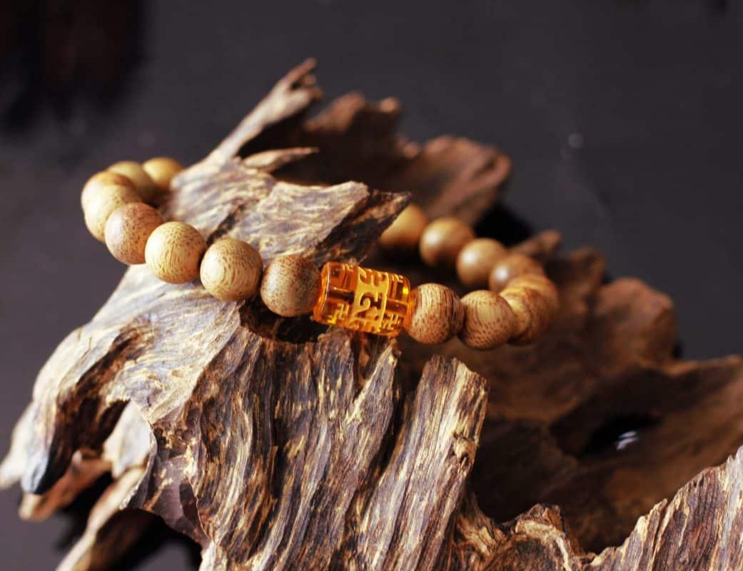 Agarwood Bracelet of Tibetan Amulet