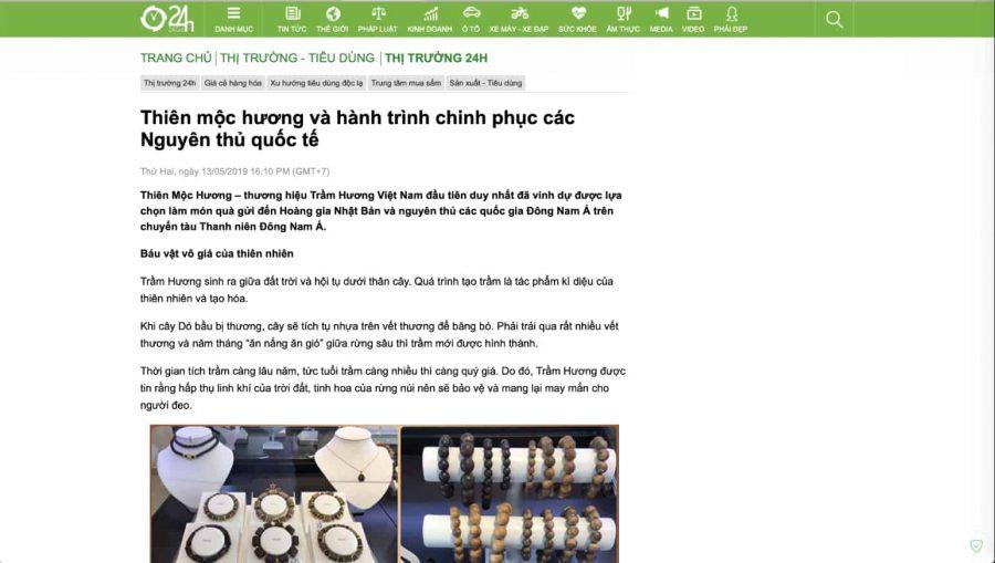 Báo 24h nói về hành trình chinh phục Nguyên Thủ Quốc Tế của Thiên Mộc Hương
