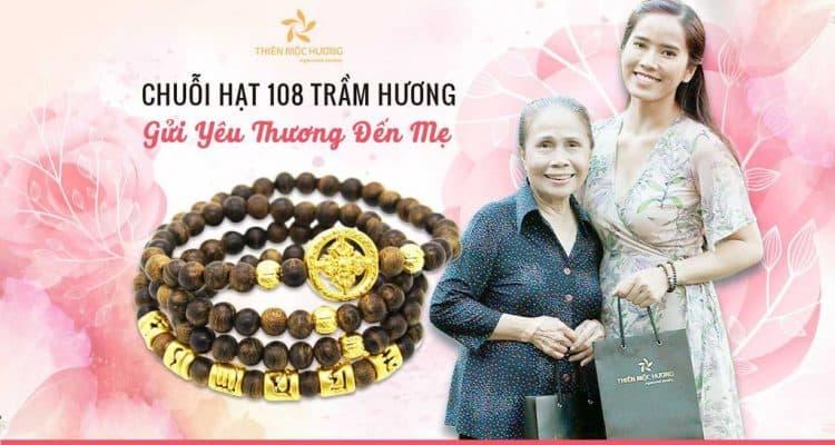 vòng tay trầm hương 108 hạt tặng mẹ