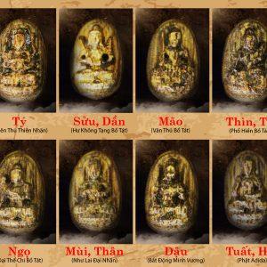 Mặt dây chuyền Trầm Hương Phật Bản Mệnh
