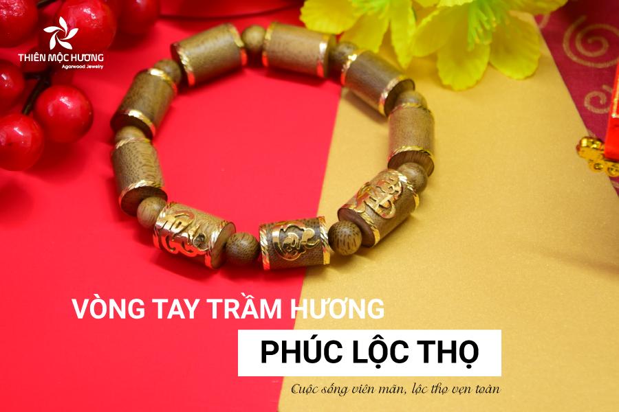 Vòng Tay Trầm Hương Phúc Lộc Thọ Lào