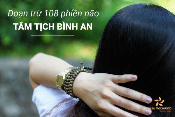 Vòng tay Trầm Hương 108 hạt chìm indo