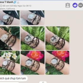 Vòng tay Trầm Hương Mân Côi photo review