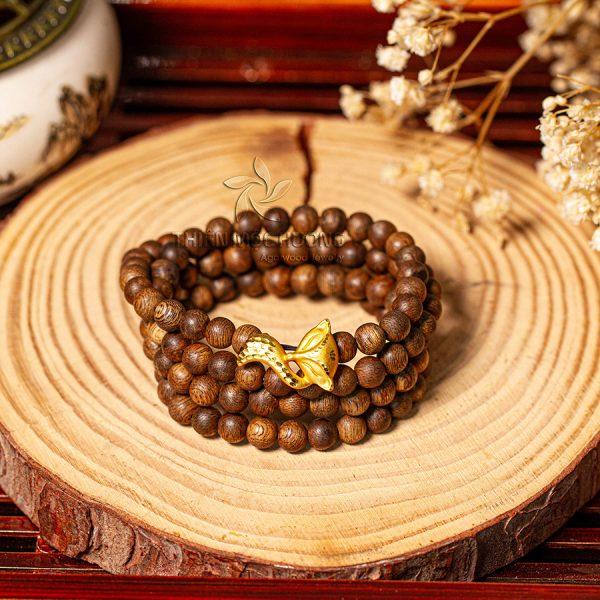 Vòng tay Trầm Hương Hồ Ly Vàng