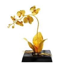 Chậu hoa lan dát vàng 24k