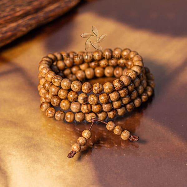 Vòng tay trầm hương 108 hạt philip