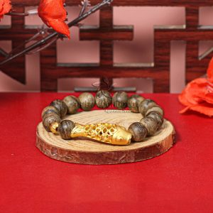 Vòng tay gỗ Trầm Hương Lý Ngư Chuyển Mình Philippines