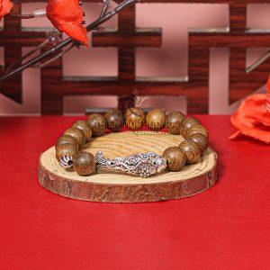 Vòng tay gỗ Trầm Hương Lý Ngư Chuyển Mình