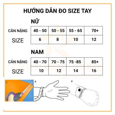 hướng dẫn đo size tay trầm hương